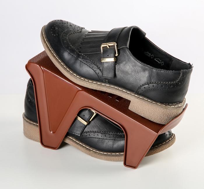 Купить Подставка для обуви на одну пару, коричневый, 24 х 11 х 13 см