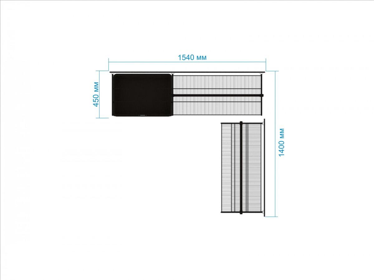 Купить Гардеробная система №19, 45 х 154 х 200 см