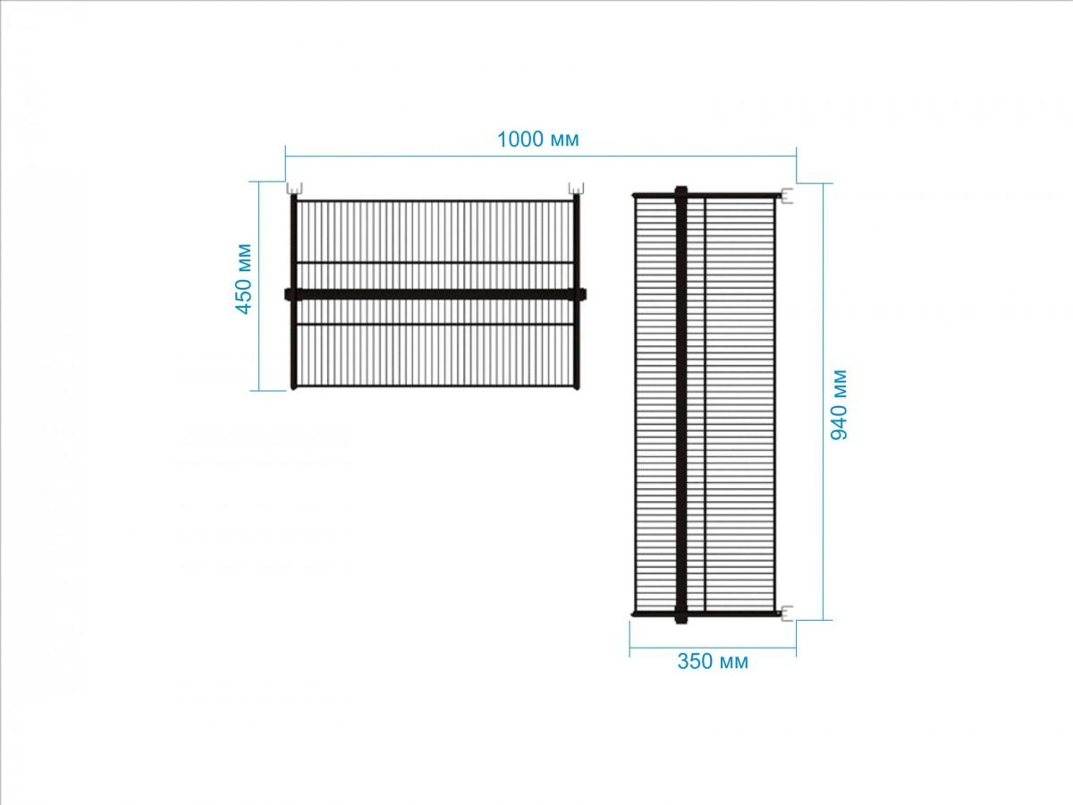 Гардеробная система №20, 45 х 100 х 120 см