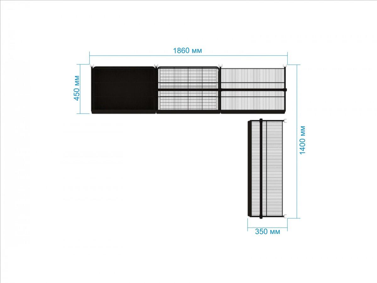 Купить Гардеробная система №21, 45 х 186 х 200 см