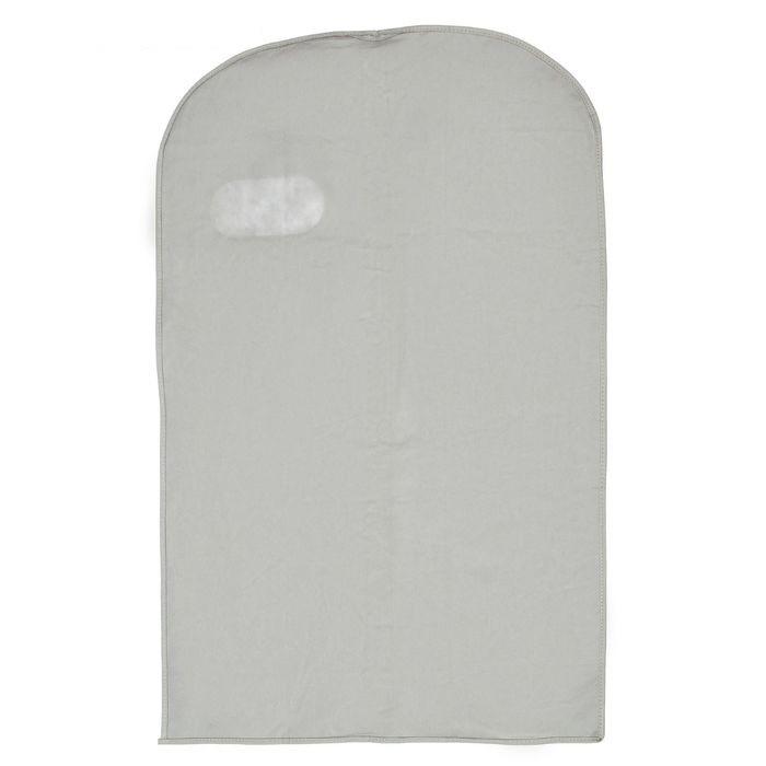 Купить чехол для одежды с окошком серый 100 х 60 см