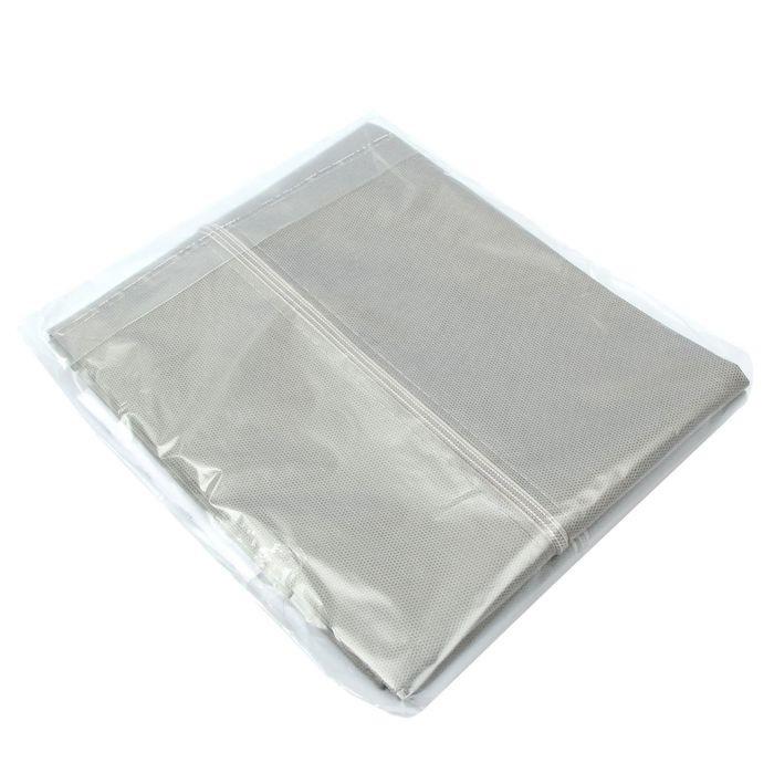 Чехол для одежды с окошком, серый, 100 х 60 см