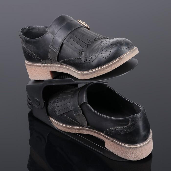 Купить Подставка для обуви на одну пару, черный, 26 х 10 х 6 см