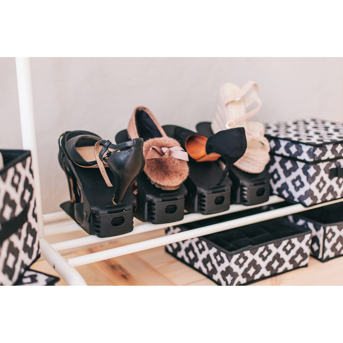 Купить подставку для обуви на одну пару черный 26 х 10 х 6 см