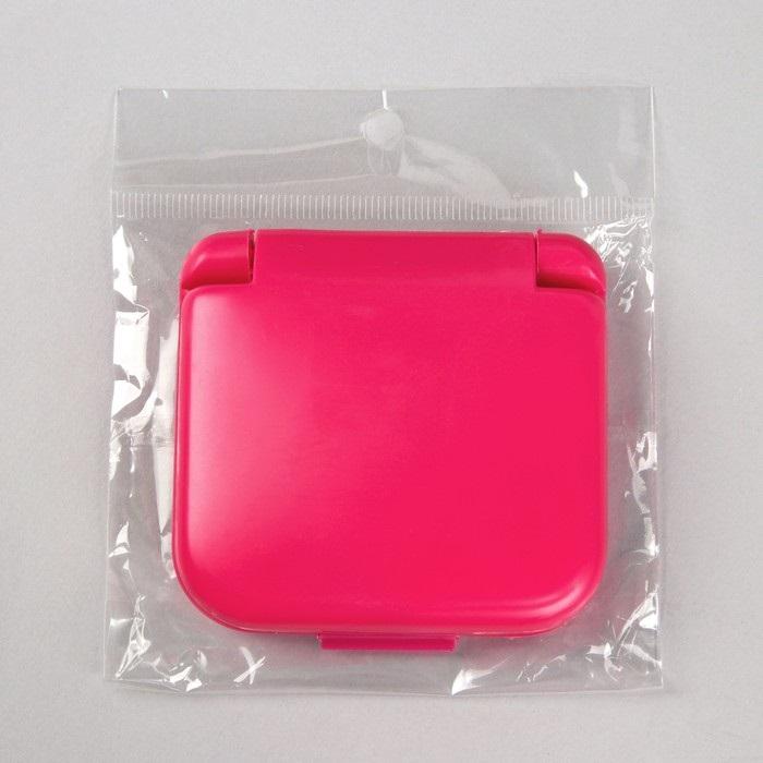 Набор для шитья складной, розовый, 7 х 6,5 х 2 см