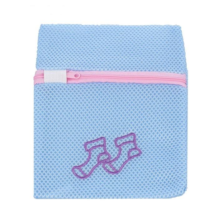 Мешок для стирки, крупная сетка, трехслойная, цвет микс