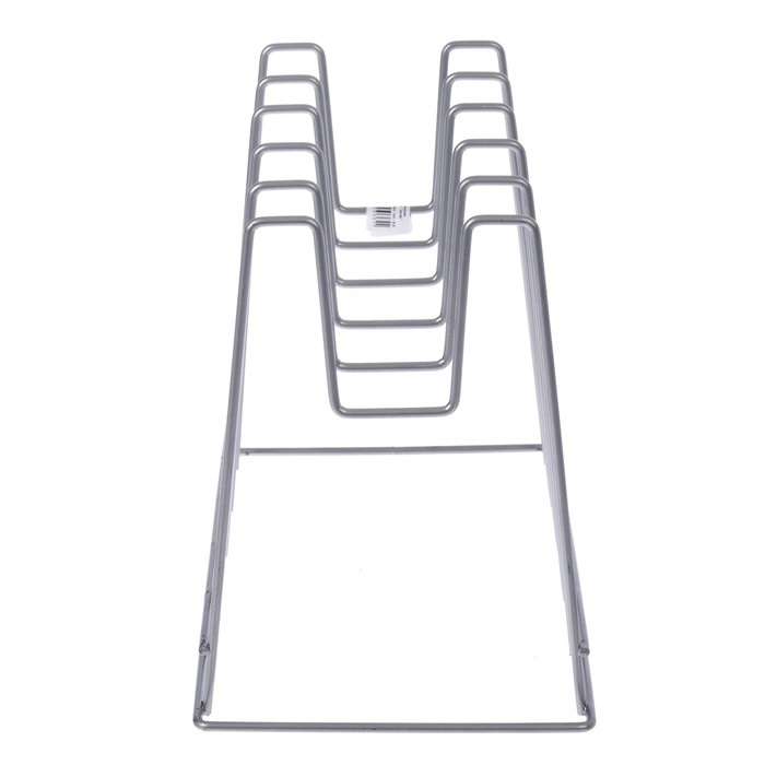 Купить подставку под крышки настольную хром 28 x 16 × 22 см
