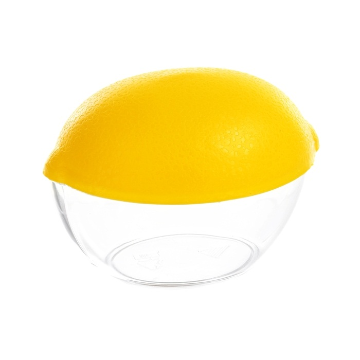 Купить контейнер для лимона желтый 12 × 8,5 × 10 см