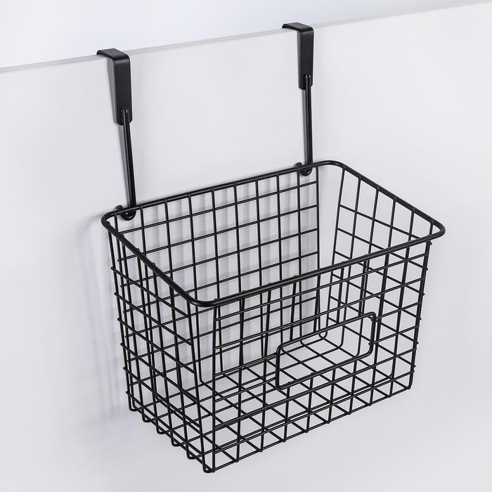 Корзина подвесная, черная, 23 х 15 х 30 см