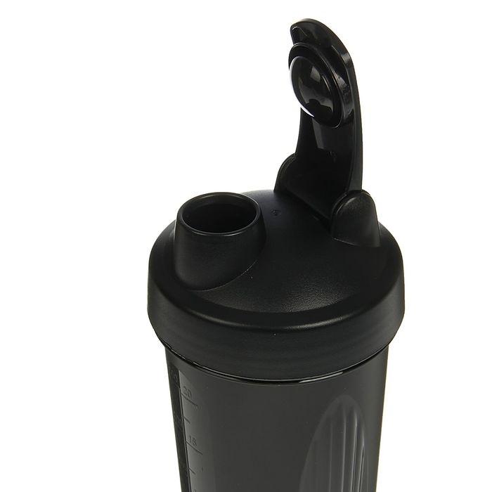 Шейкер с шариком, 600 мл, чёрный, 9 × 9 × 21 см