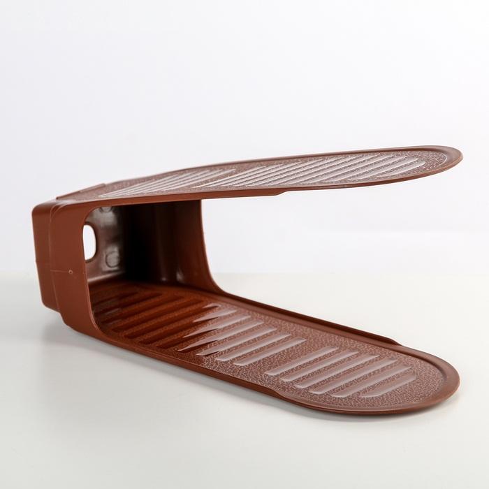 Подставка для обуви на одну пару, модель 3, 13 × 13 × 26 см