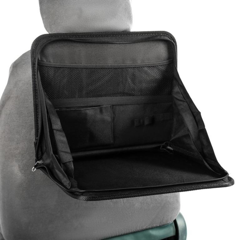 Купить органайзер-столик в авто на спинку сиденья черный 39 х 3,5 х 30 см