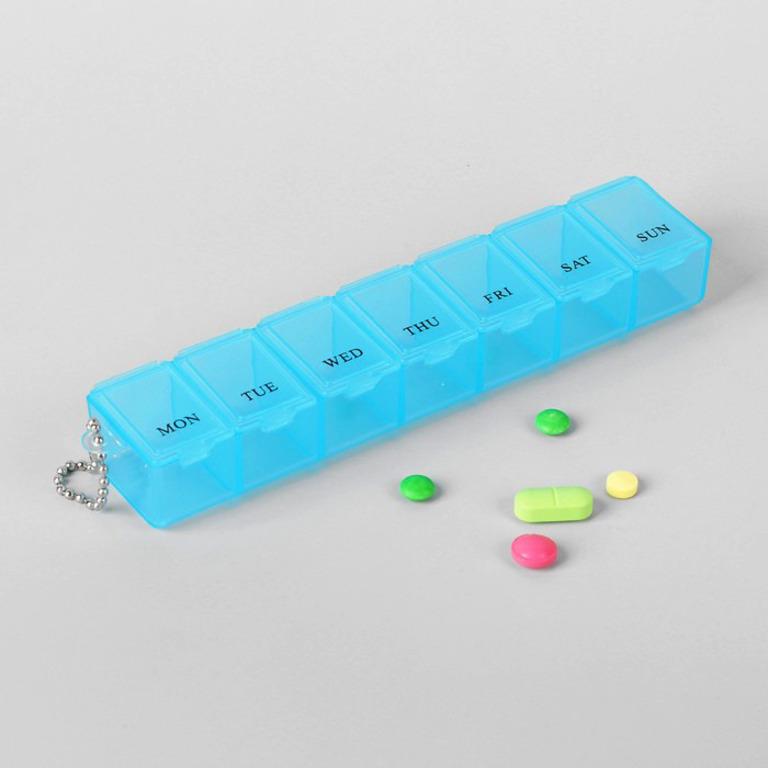 Купить органайзер для таблеток на неделю 15 х 2,5 х 3 см