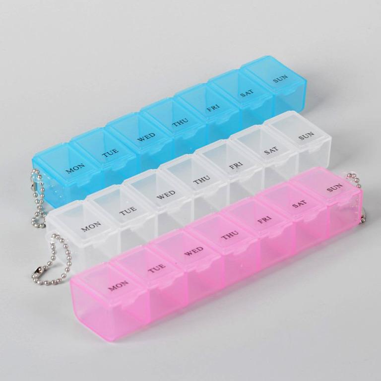 Органайзер для таблеток на неделю, 15 х 2,5 х 3 см