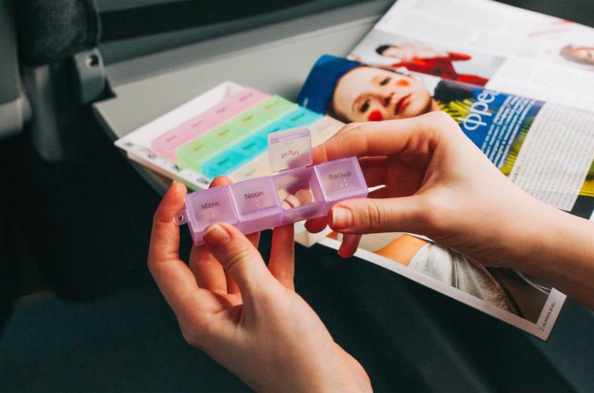 Купить органайзер для таблеток тетрис 11 х 17,5 х 2 см