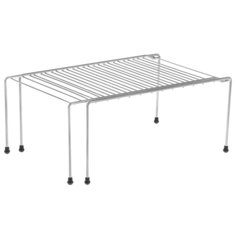 Купить комплект из двух раздвижных полок для шкафа 37-62 x 22 x 15 см