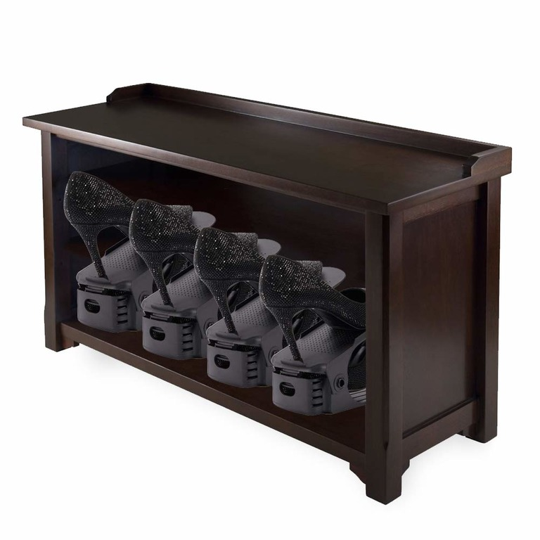 Купить комплект из подставок для обуви модель 1 черный 5 шт 25 х 9 х 10-18 см