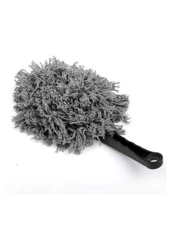 Купить автомобильную щетку для удаления пыли в салоне серый 30 см