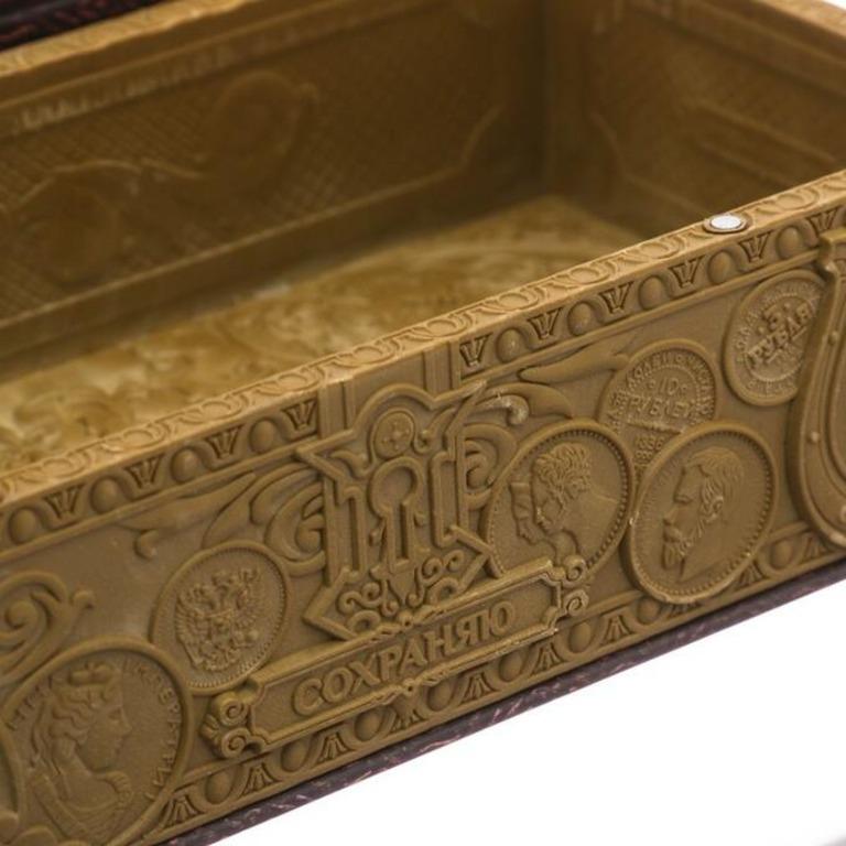 Шкатулка-тайник для денег, коричневый, 18,2 x 9,1 x 4,1 см