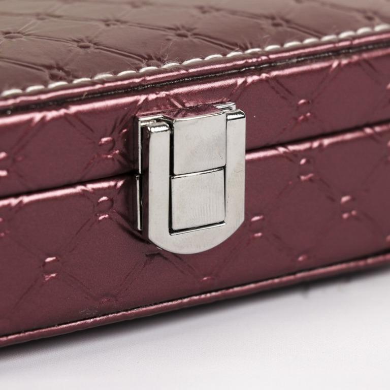 Купить шкатулку для украшений Sofia бордовый 15 x 10 х 4,5 см