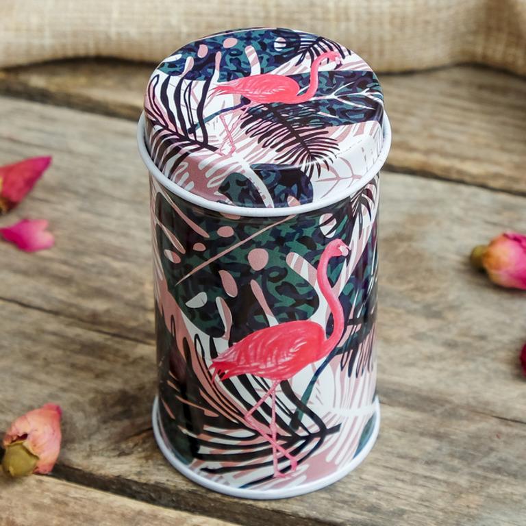 Купить банку металлическую Flamingo 4 x 4 x 7,5 см