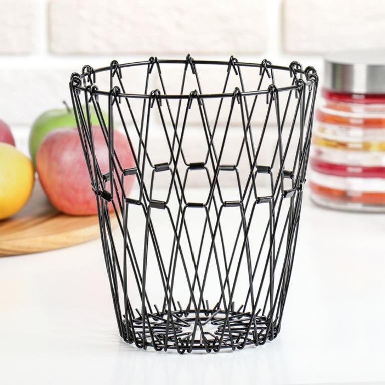Купить вазу для фруктов раскладную черный 29 x 29 x 4,5 см