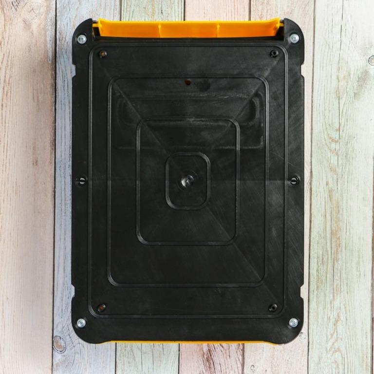 Почтовый ящик с накладкой, серый, 28 х 7 х 39 см