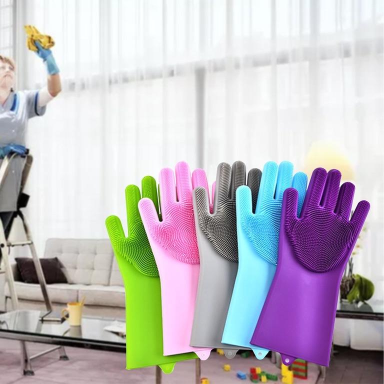 Купить силиконовые перчатки для мытья посуды