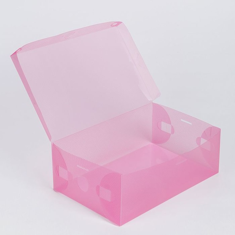 Купить коробку для хранения розовый 28 x 18 х 10 см
