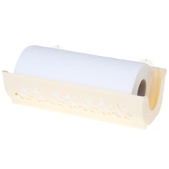 Купить держатель для бумажных полотенец Бабочки кремовый