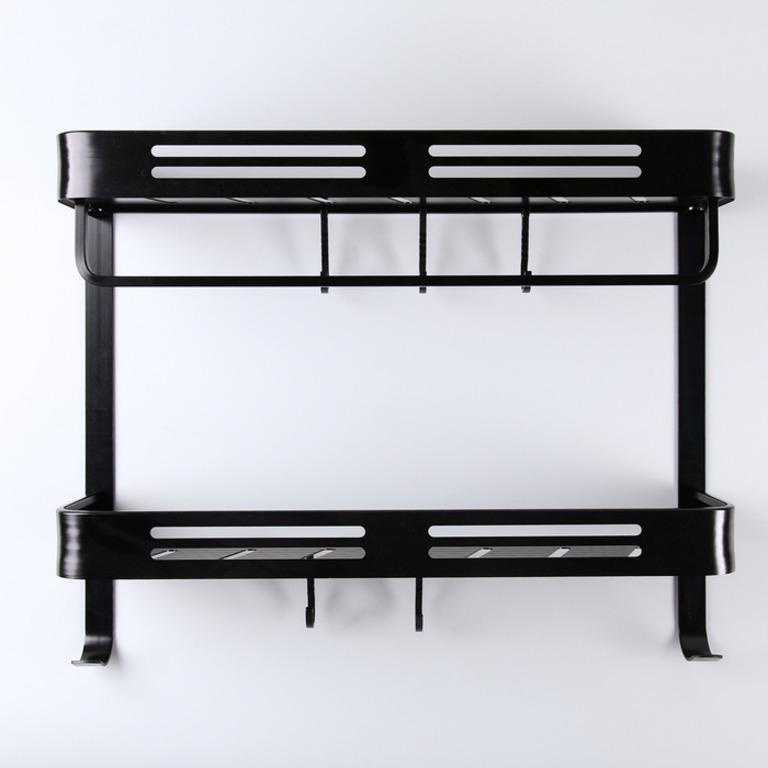 Купить полку двухъярусную черный