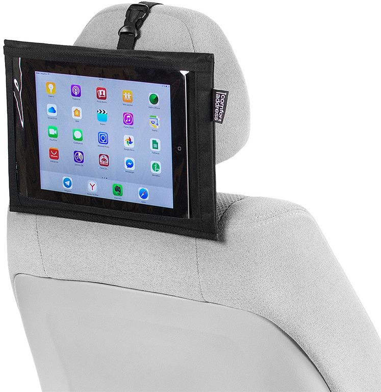 Купить держатель планшета на подголовник черный 30 х 22 см