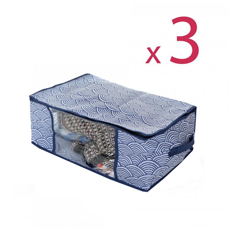 Купить комплект кофров для хранения вещей Зыбь 3 шт 45 x 30 x 25 см