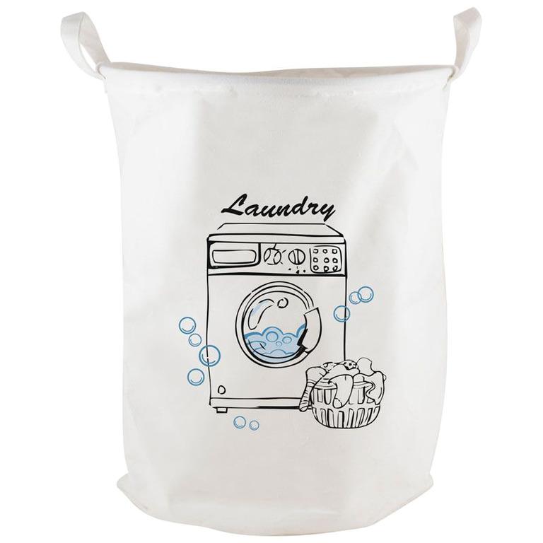 Купить корзину для белья Laundry белый 38 x 38 x 48 см