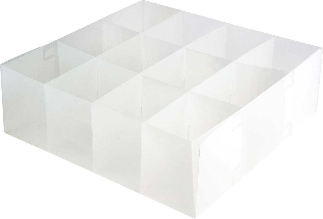 Купить коробку для белья пластиковую 16 ячеек 30 x 30 x 10 см
