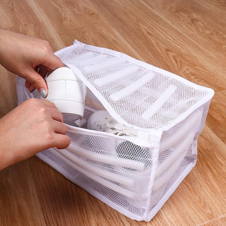 Купить мешок для стирки обуви белый 33 x 19 x 19 см
