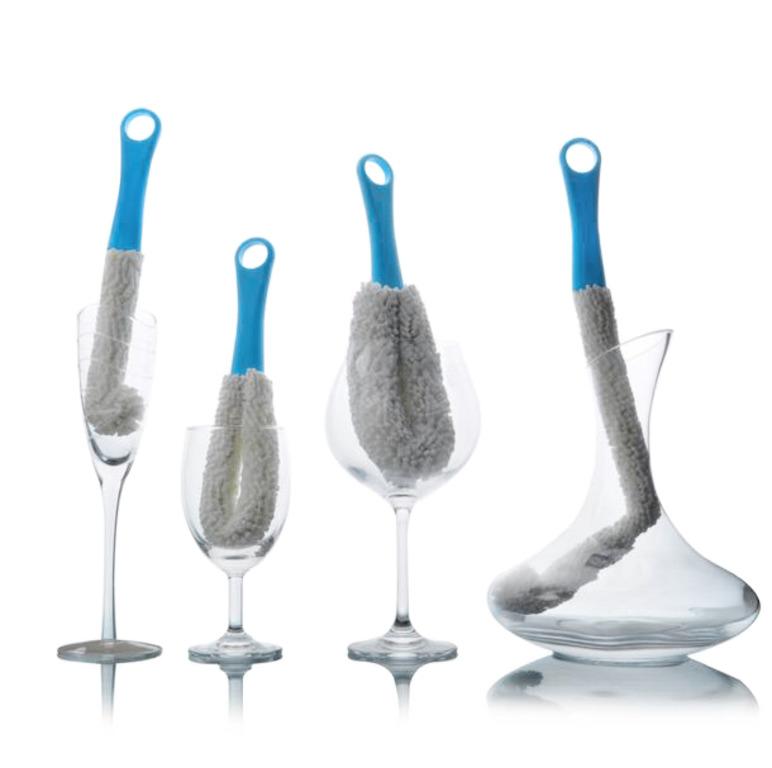 Купить щетку для мытья бокалов синий 27 см