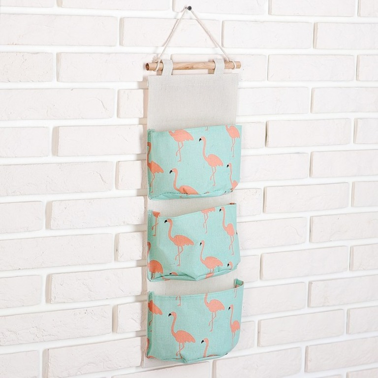 Купить органайзер с карманами подвесной Flamingo голубой 60 x 20 см