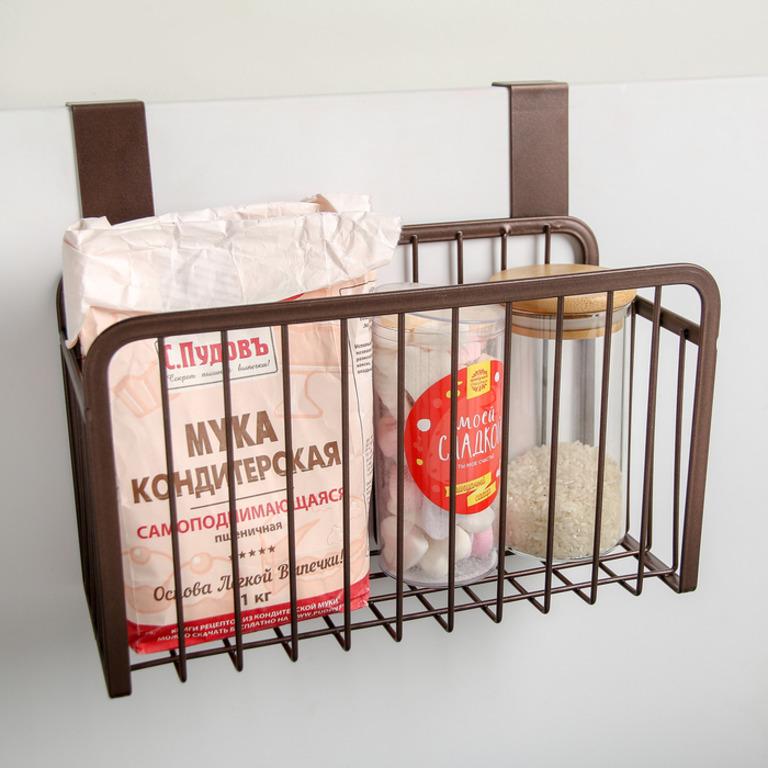 Купить корзину подвесную коричневый 26 см