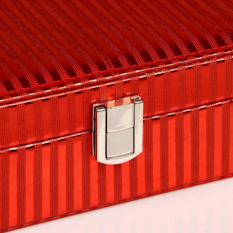 Шкатулка для украшений «Lines», красный, 15 х 10 x 4,5 см