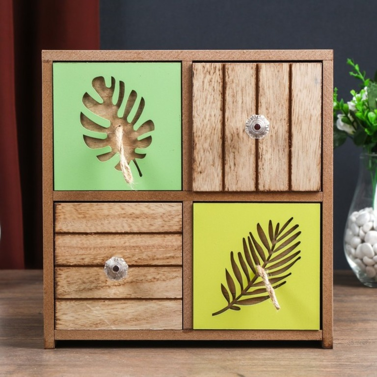 Купить шкатулку-комод деревянную Palm 23 х 10 x 24 см