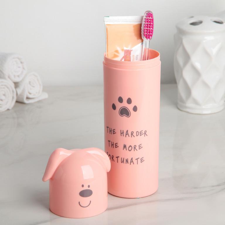 Купить футляр для зубной щетки и пасты Puppy 5,5 x 5,5 x 21 см