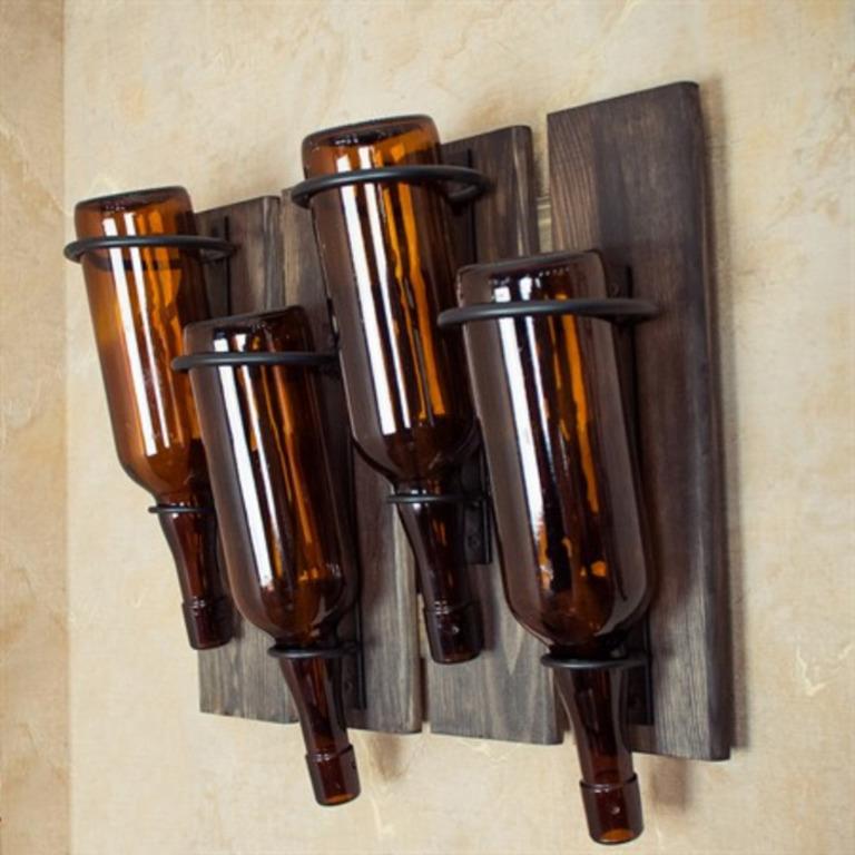 Купить подставку винную обожженное дерево коричневый 45 x 15 x 35 см