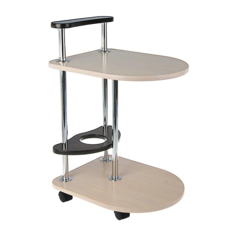Купить стол сервировочный выбеленный дуб венге бежевый 50 x 40 x 55 см