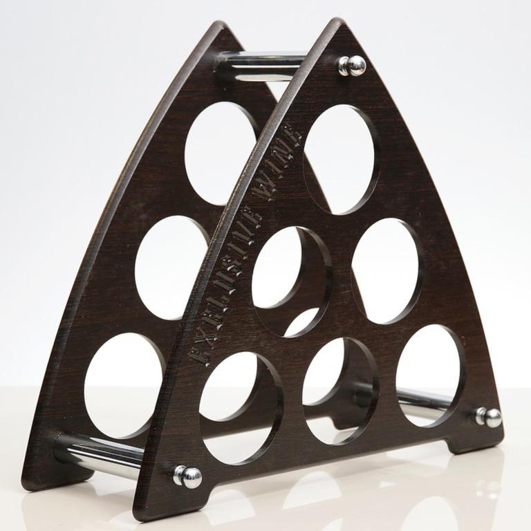 Купить подставку для бутылок Треугольник коричневый 43 x 3 x 44 см