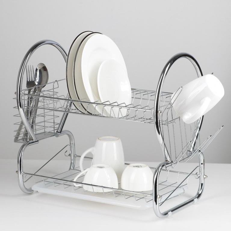 Купить сушилку для посуды 8-образную хром