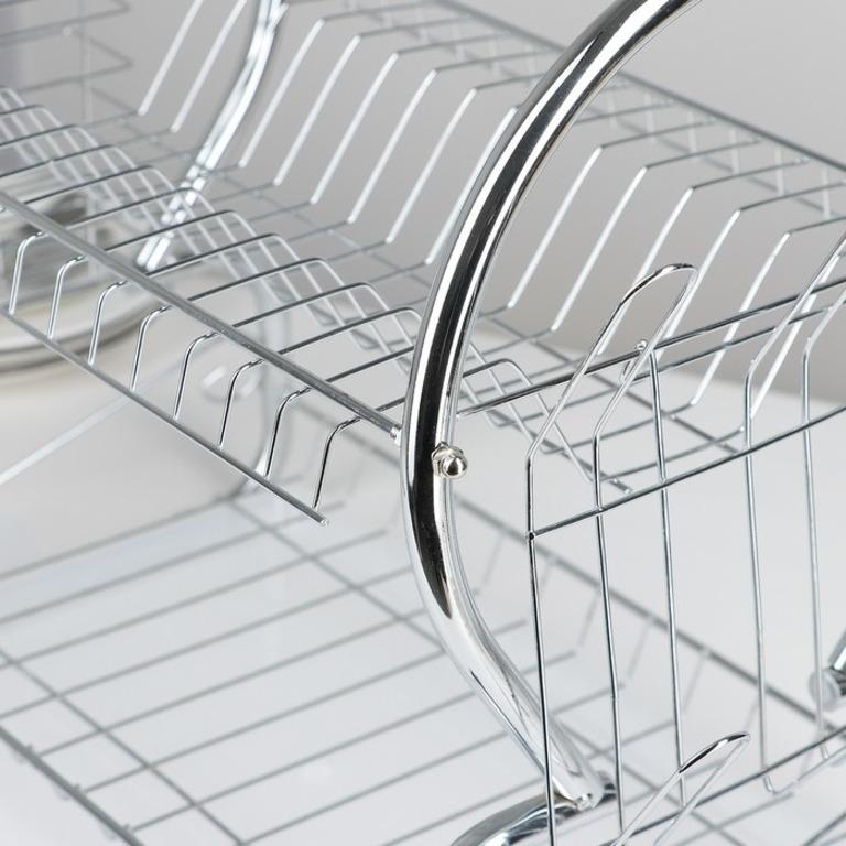 Сушилка для посуды 8-образная, хром, 40 х 23,5 х 34 см