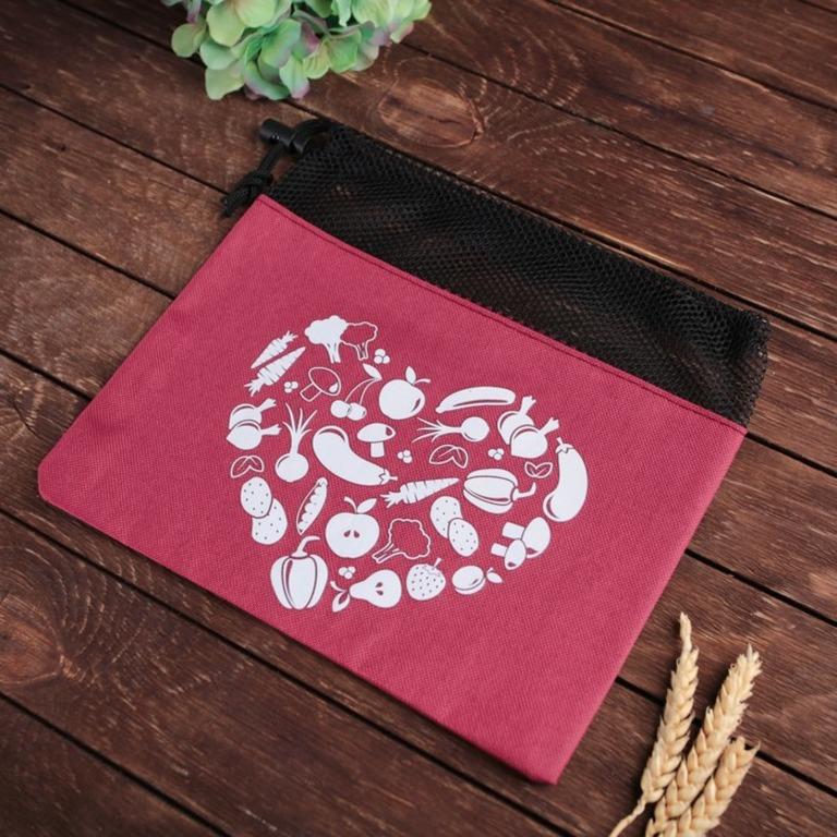 Купить мешок для хранения овощей Любовь красный