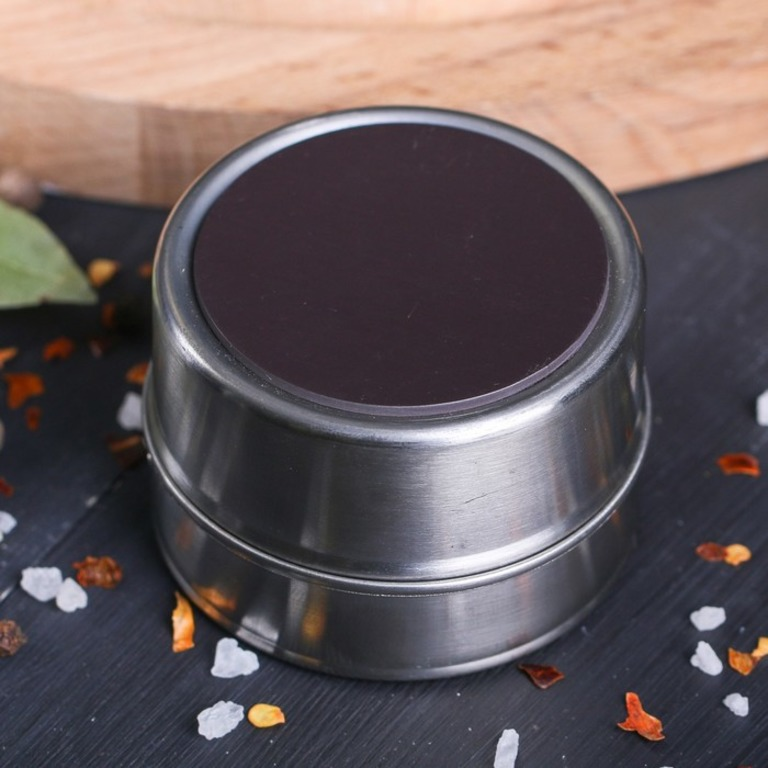 Набор банок для специй на магните-подставке «Рожицы», 2 шт, 0,1 л, 14 x 5 x 7 см