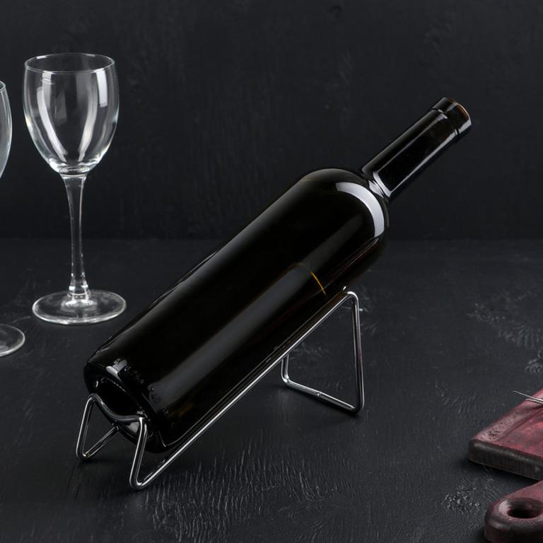 Купить подставку для бутылки Горка хром 18 x 7,5 x 8 см